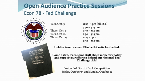 Fed Challenge Practice Session
